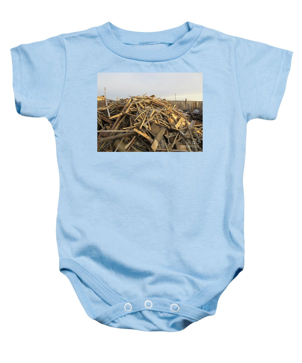 A Baby Onesie featuring the photograph A Rubbish Pile by Frederick Holiday