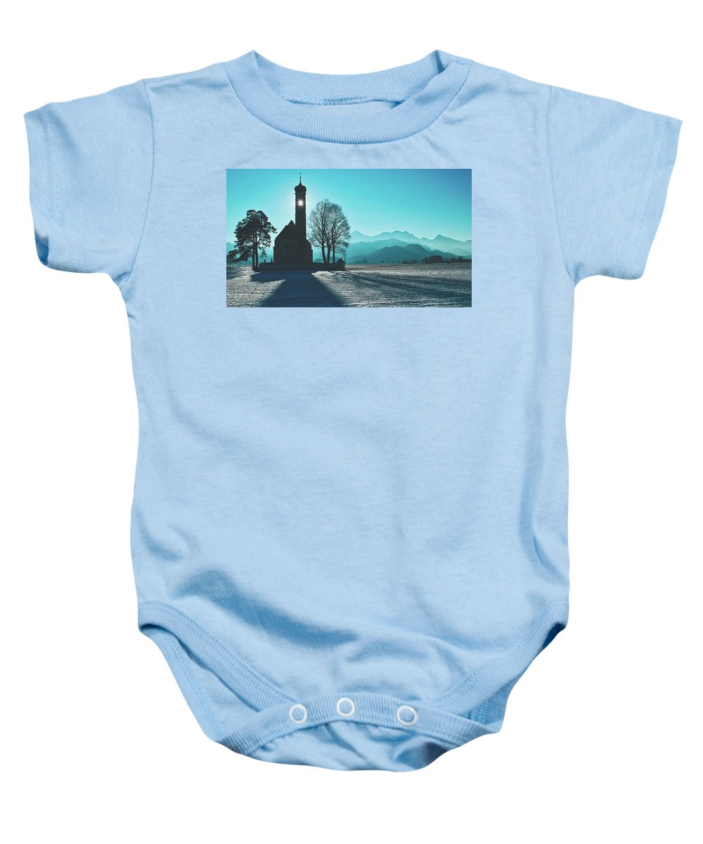 Saint Coloman Baby Onesie featuring the photograph A Shining Light by Pixabay