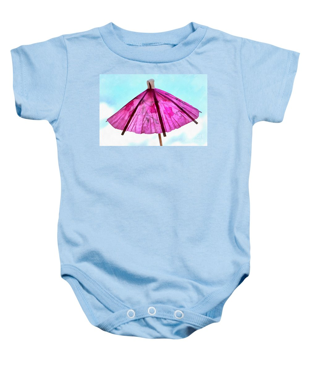 Umbrella Baby Onesie featuring the photograph A Summer Day by Krissy Katsimbras