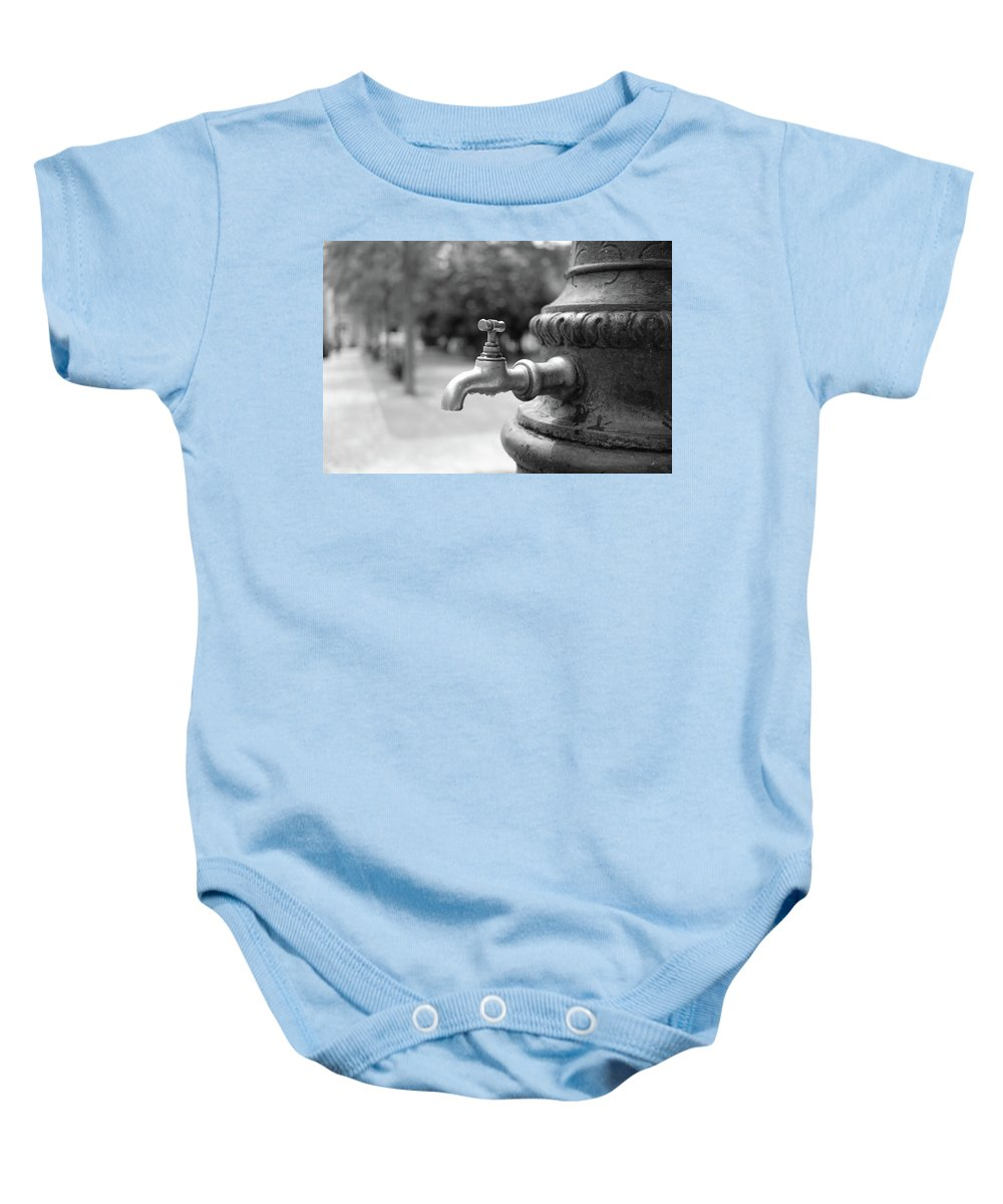 Water Tap In The Park Baby Onesie featuring the photograph A Water Tap In The Park by Marco Oliveira