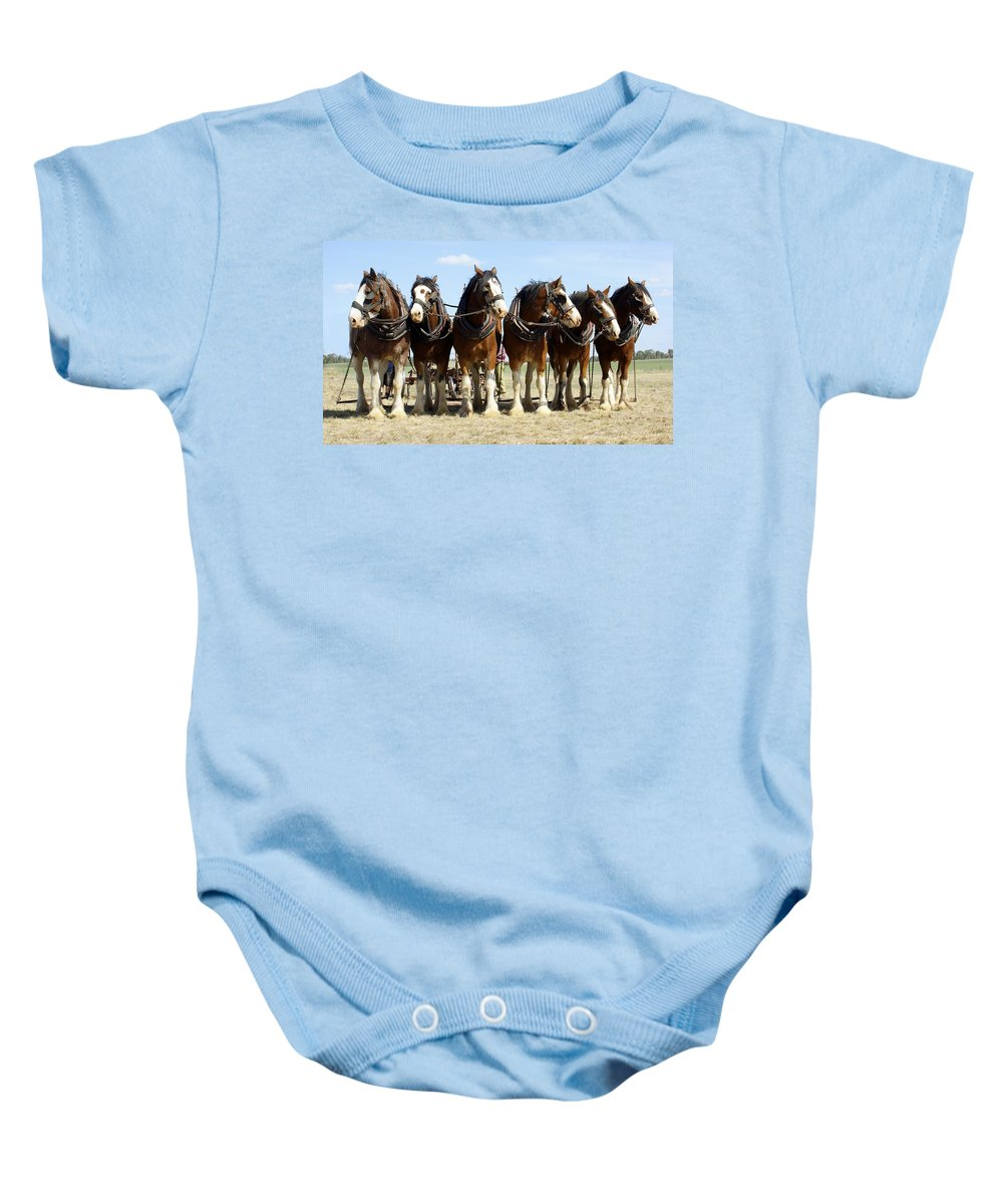 Kathryn Potempski Baby Onesie featuring the photograph A Working Day by Kathryn Potempski