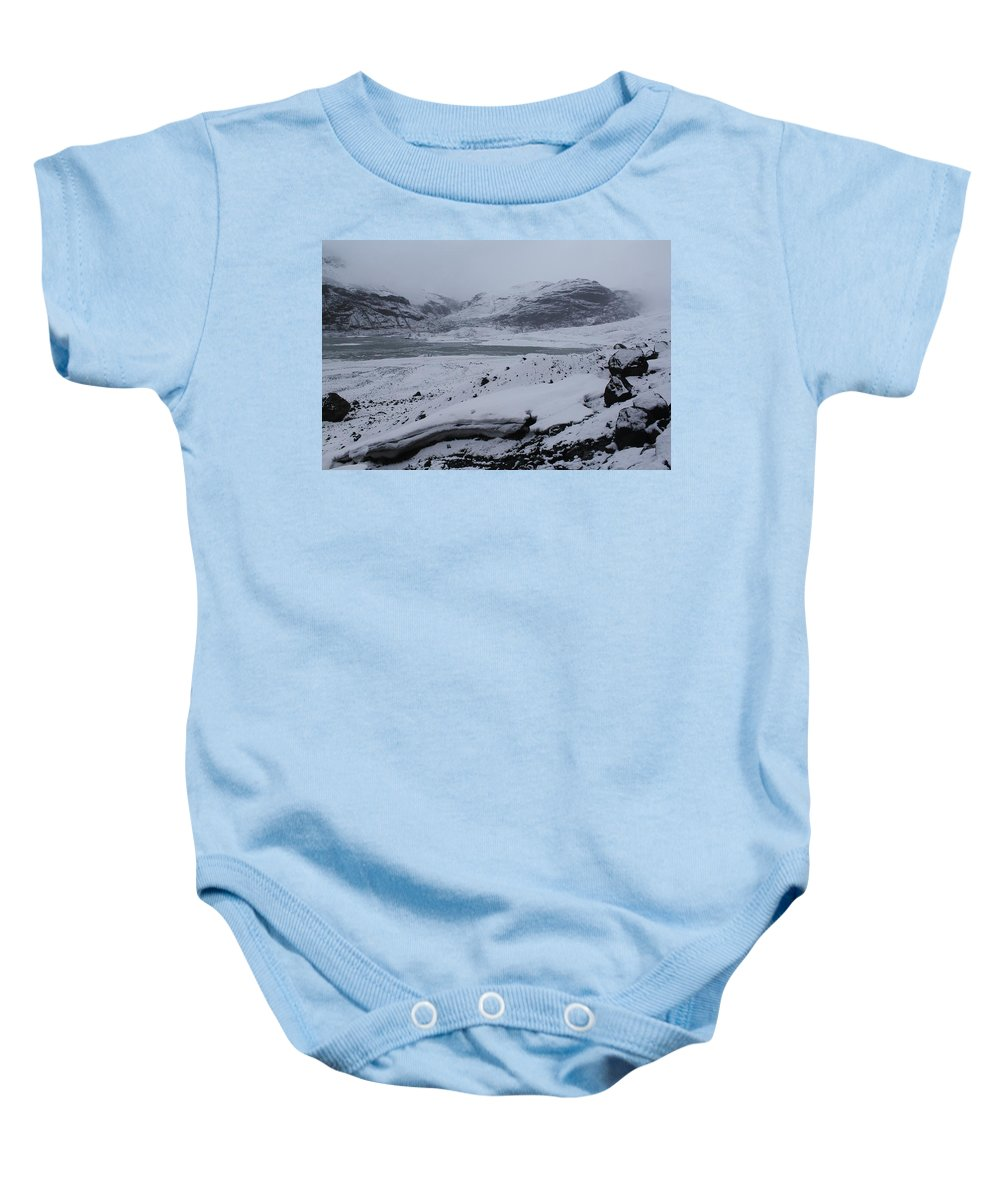 Iceland Baby Onesie featuring the photograph A World Without Colour by Mo Barton