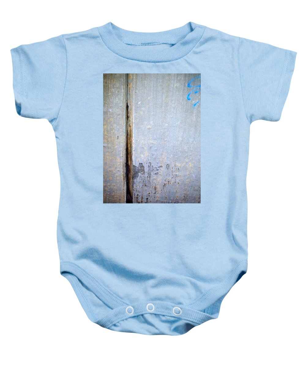 Industrial. Urban Baby Onesie featuring the photograph Abstract Concrete 19 by Anita Burgermeister