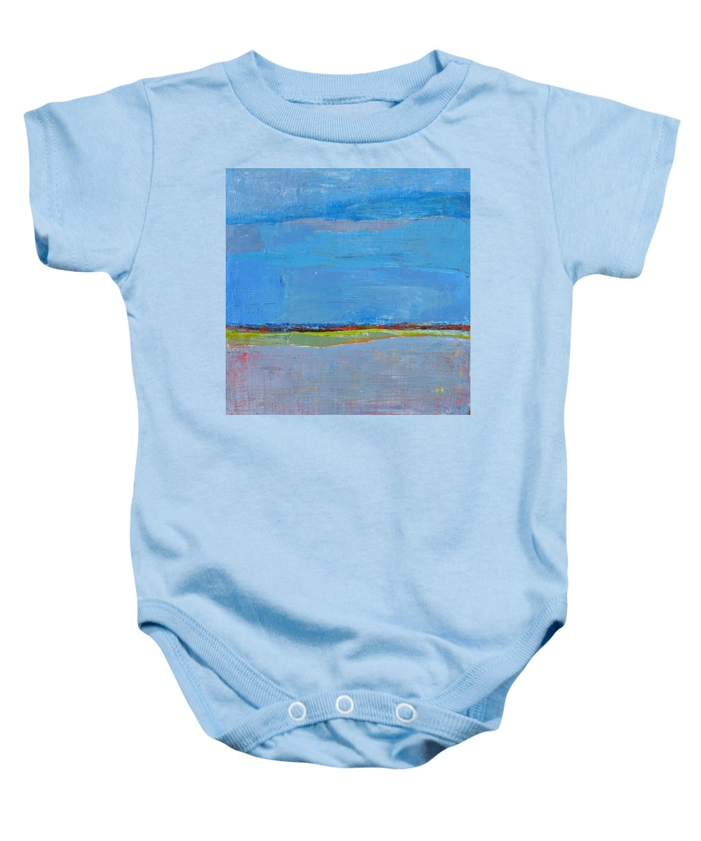 Baby Onesie featuring the painting Abstract Landscape1 by Habib Ayat