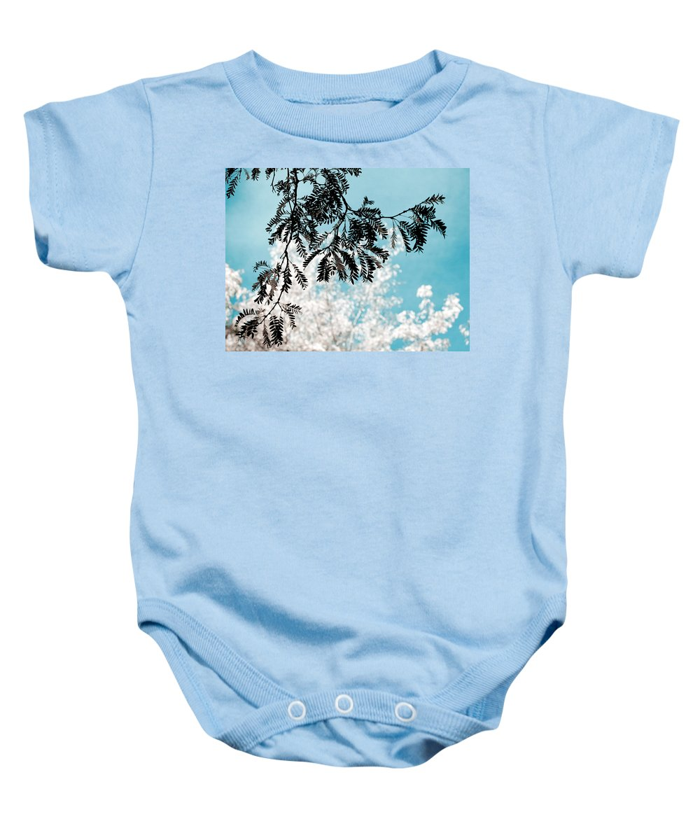 Tree Baby Onesie featuring the photograph Abstract Locust by Marilyn Hunt