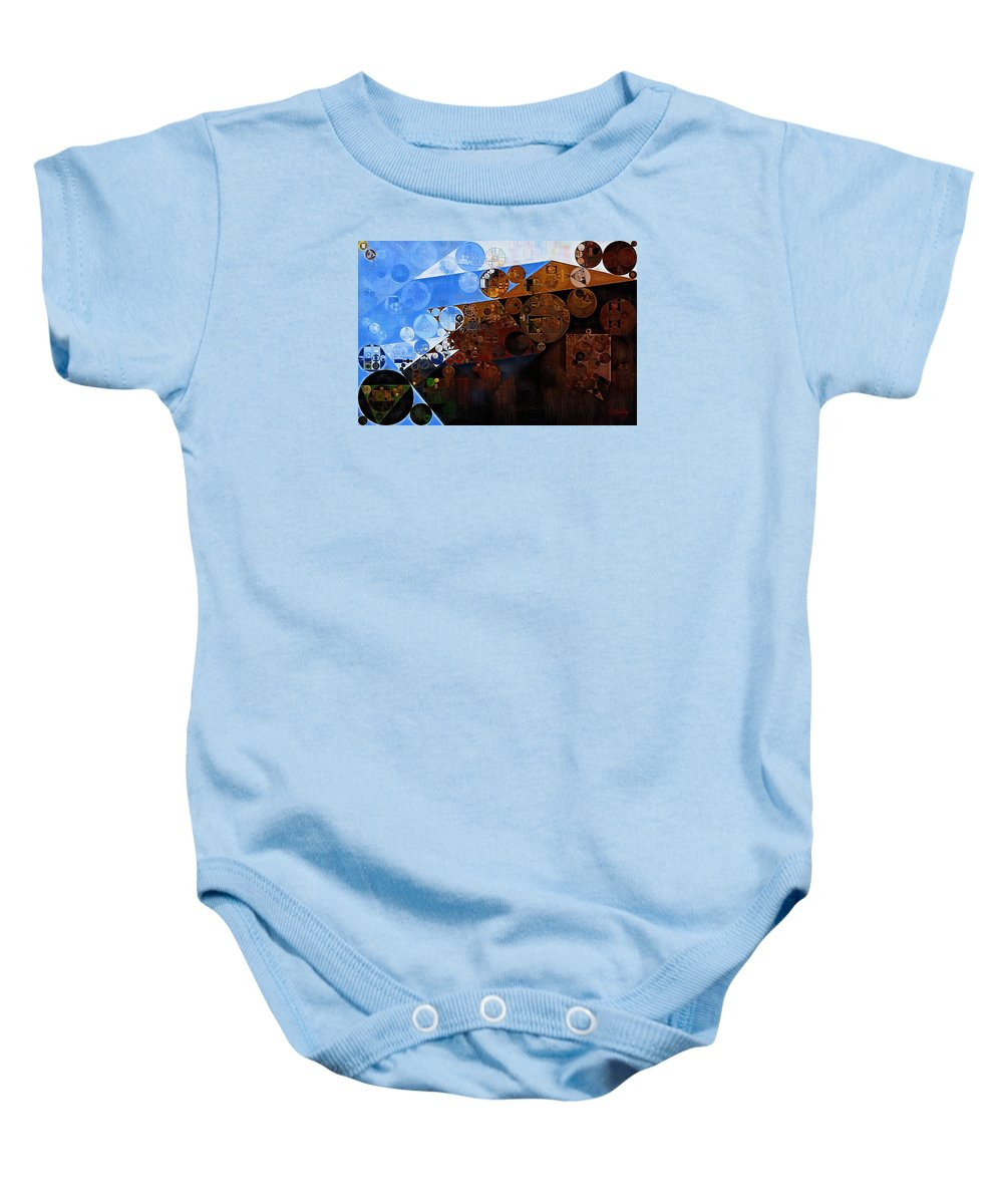 Triangle Baby Onesie featuring the digital art Abstract Painting - Spring 2015 by Vitaliy Gladkiy