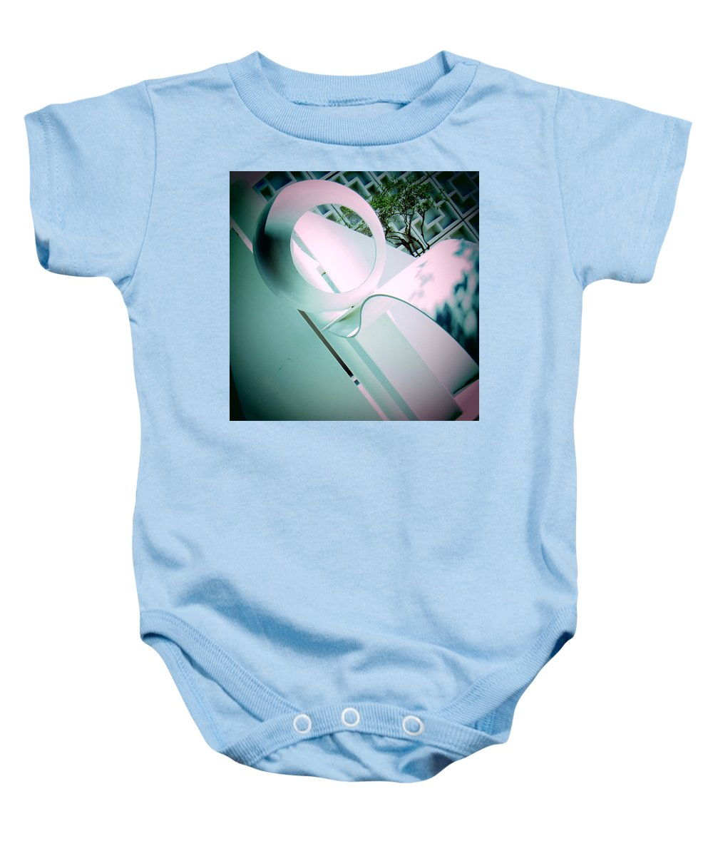 Abstract Baby Onesie featuring the photograph Abstract Sculpture 2 by Daniel Hart