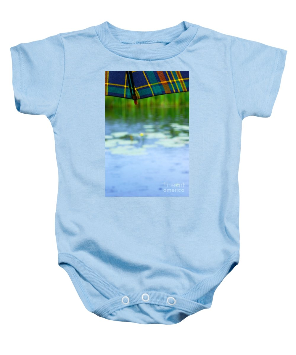Umbrella Baby Onesie featuring the photograph After The Rain by Aimelle