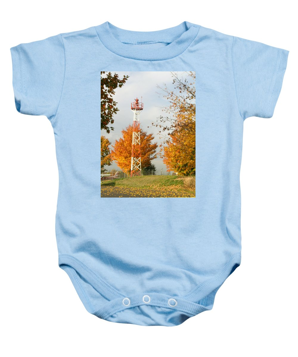 Airport Baby Onesie featuring the photograph Airport Tower by Douglas Barnett