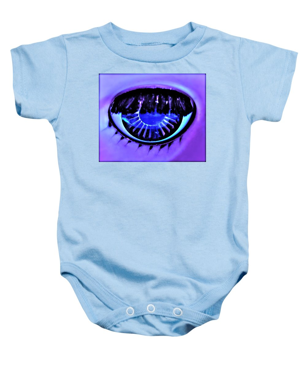 Photograph Of Doll Eye Baby Onesie featuring the photograph Alluring by Gwyn Newcombe