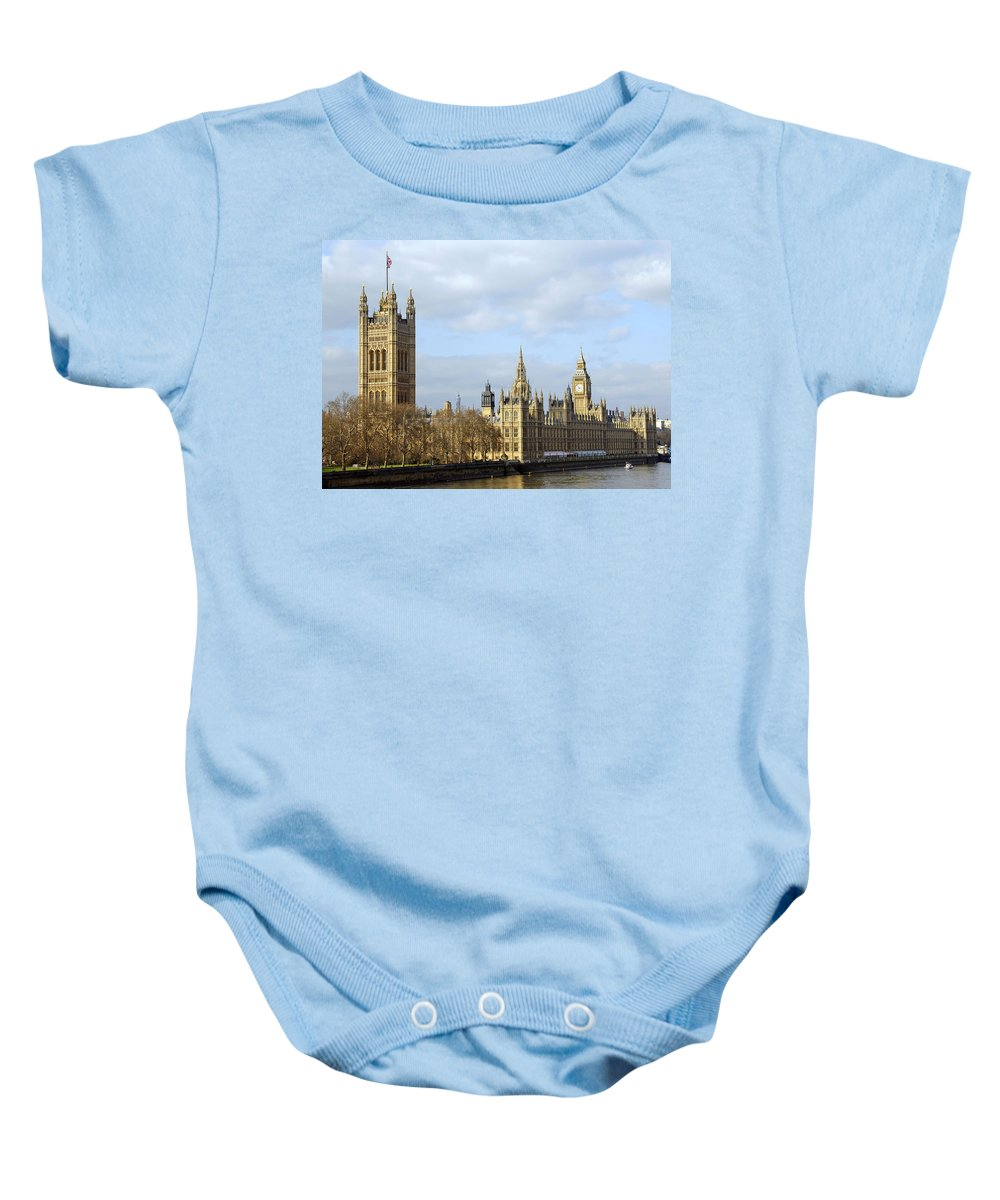 London Baby Onesie featuring the photograph Along The Thames by Stephen Anderson