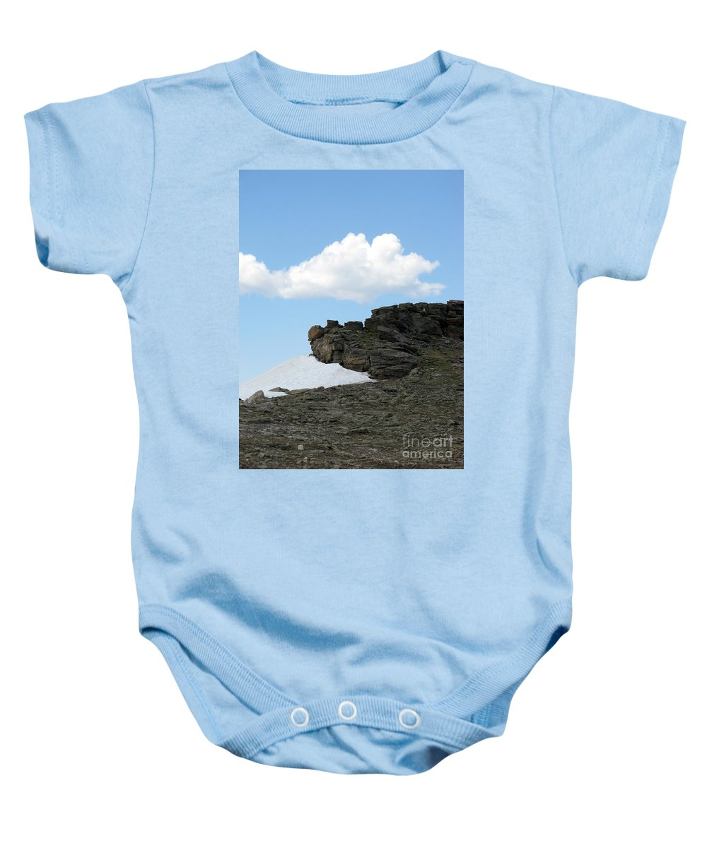 Rocky Mountains Baby Onesie featuring the photograph Alpine Tundra - Up In The Clouds by Amanda Barcon