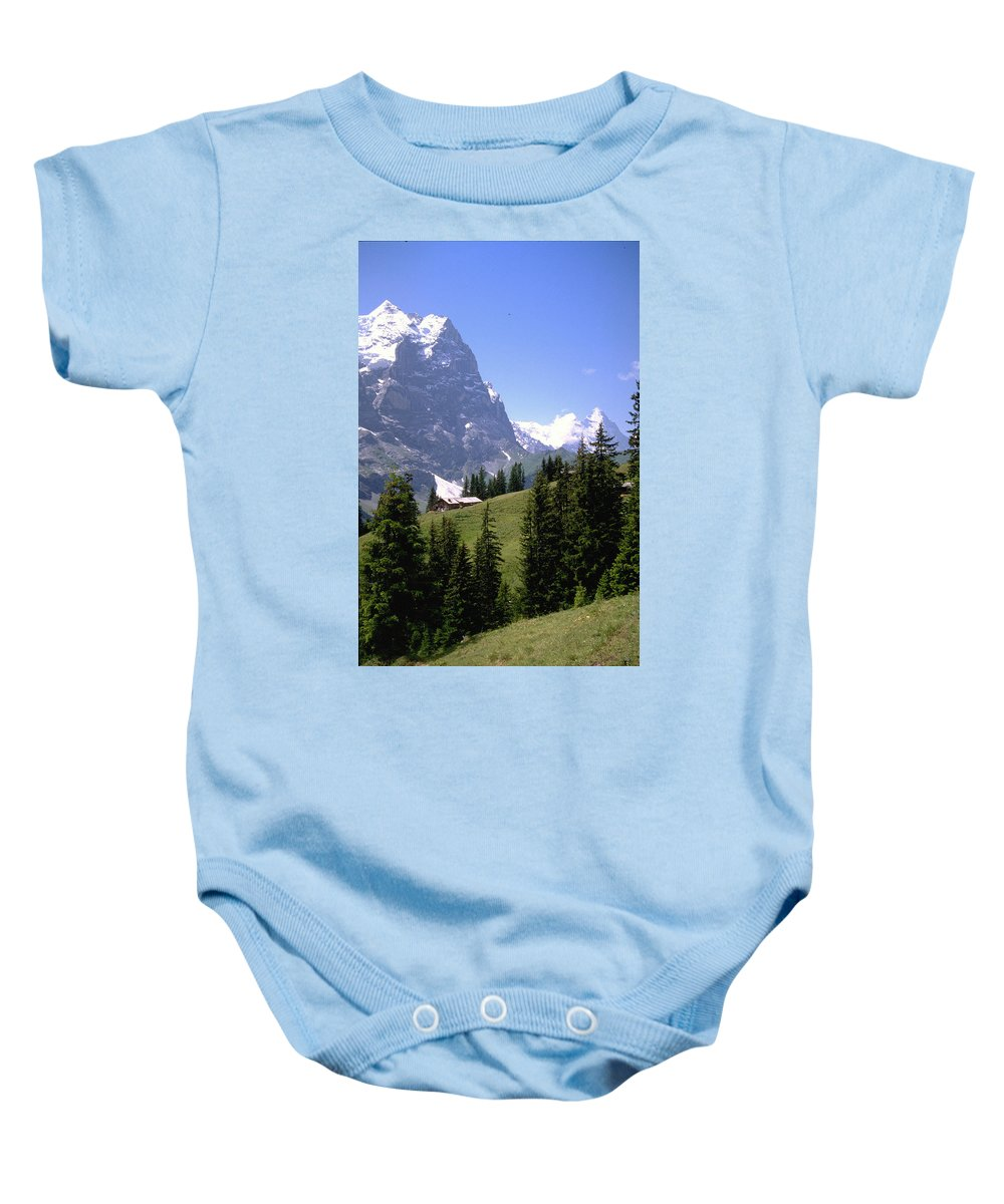 Alps Baby Onesie featuring the photograph Alps by Flavia Westerwelle