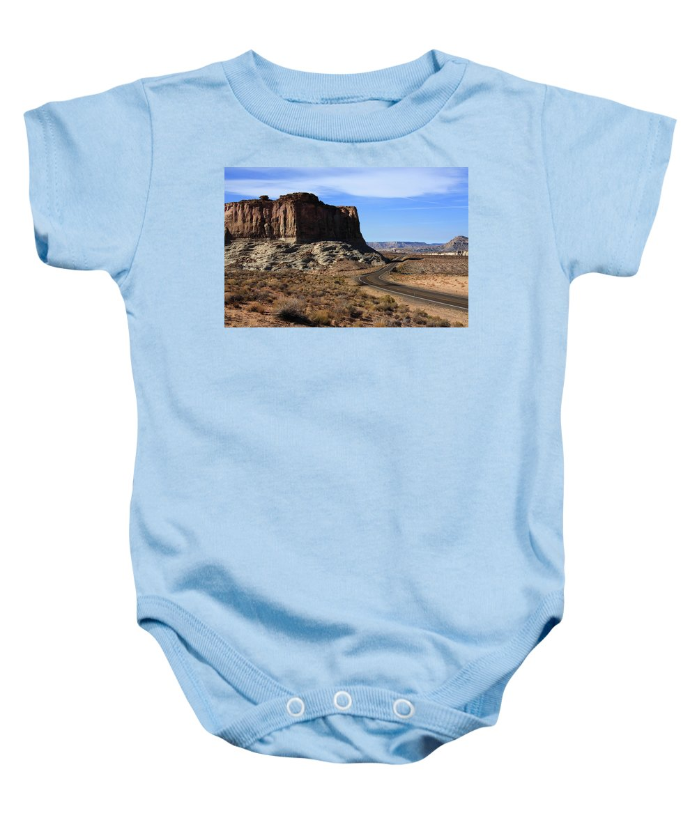 Desert Baby Onesie featuring the photograph American West by Aidan Moran