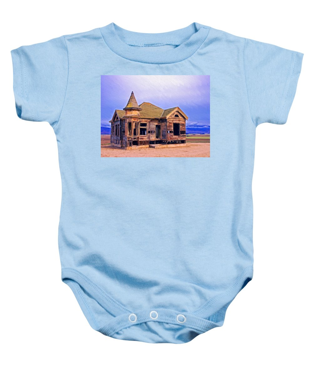 Old Home Baby Onesie featuring the painting Amnesia by Dominic Piperata
