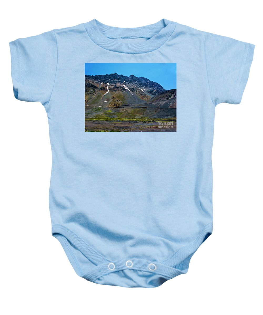 Andes Baby Onesie featuring the photograph Andean Journey by Roberta Bragan
