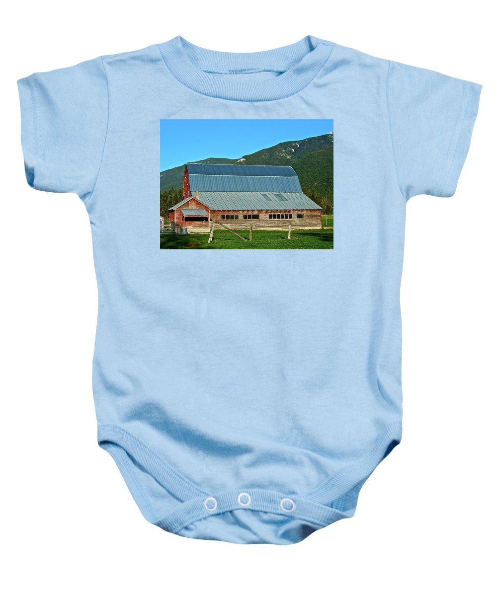 Barn Baby Onesie featuring the photograph Another Angle by Diana Hatcher
