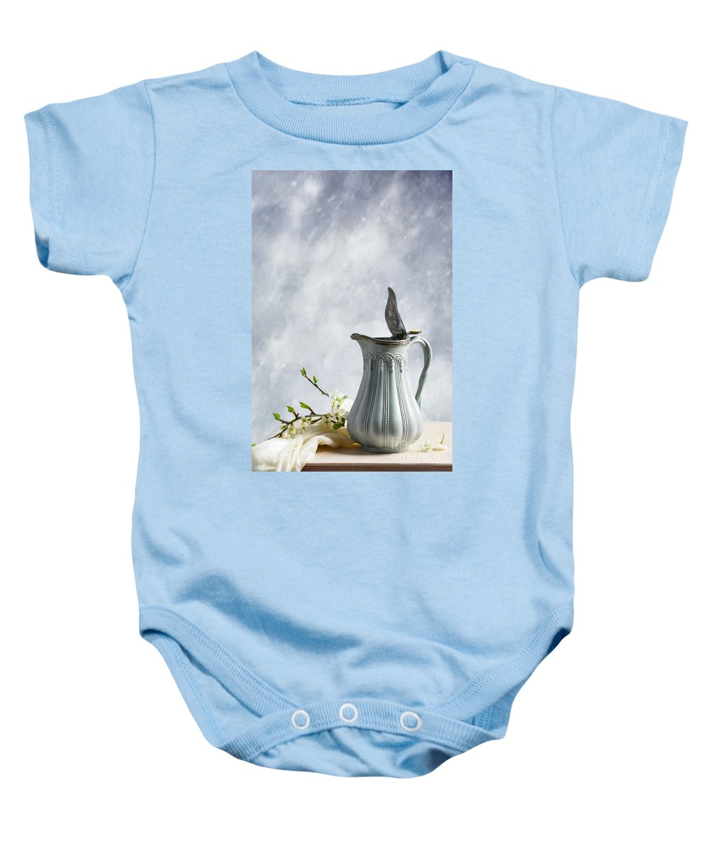 Antique Baby Onesie featuring the photograph Antique Jug by Amanda Elwell