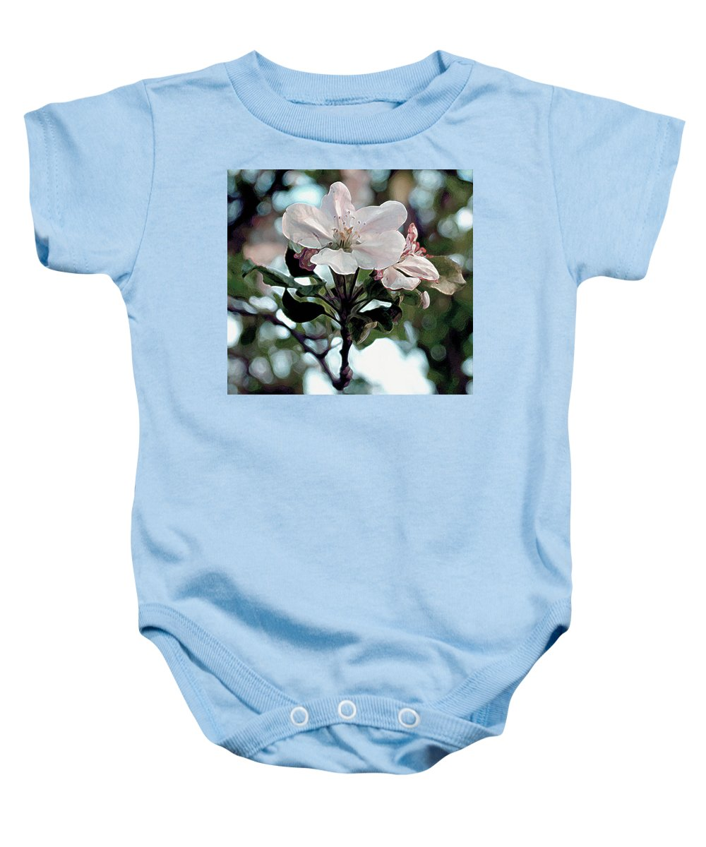 Flowers Baby Onesie featuring the painting Apple Blossom Time by RC deWinter