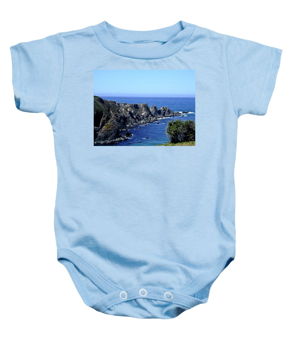 Arena Baby Onesie featuring the photograph Arena Point California by Douglas Barnett