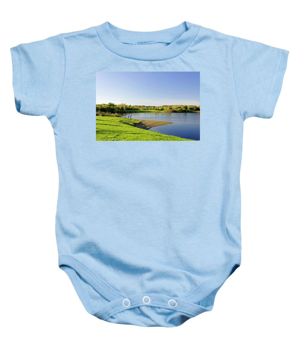 Europe Baby Onesie featuring the photograph Around Barton Marina Lake by Rod Johnson
