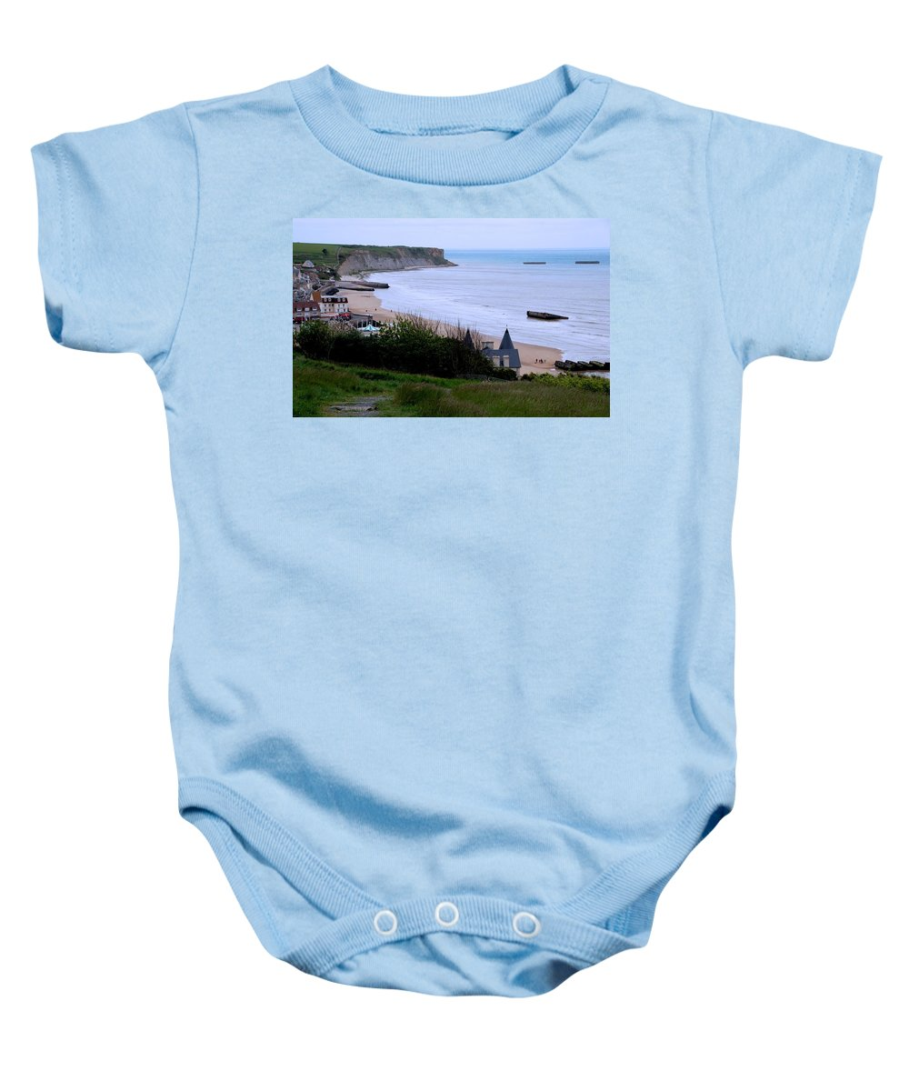 Arromanches-les-bain Baby Onesie featuring the photograph Arromanches-les-bain by Eric Tressler