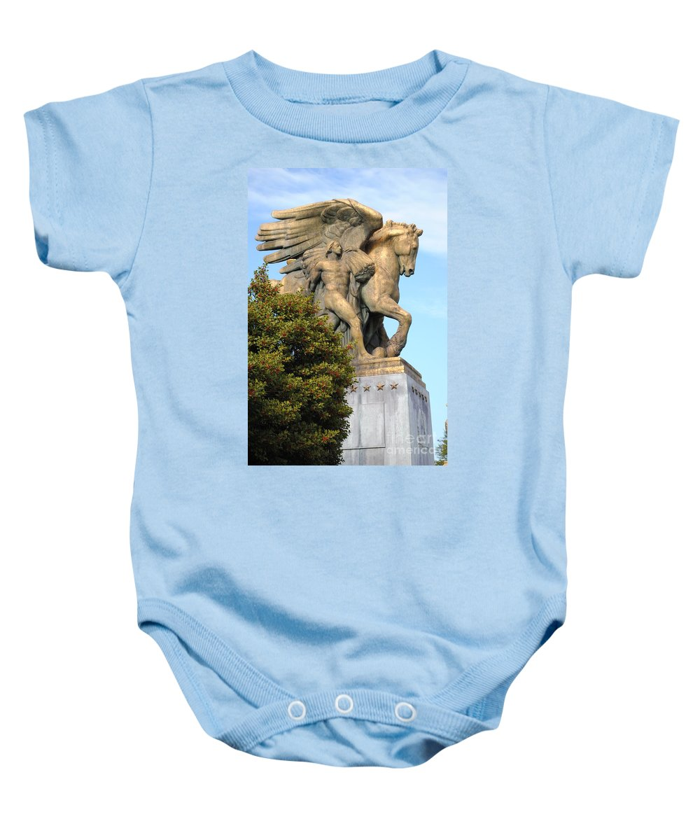 Washington Baby Onesie featuring the photograph Art Of Peace Pegasus by Jost Houk