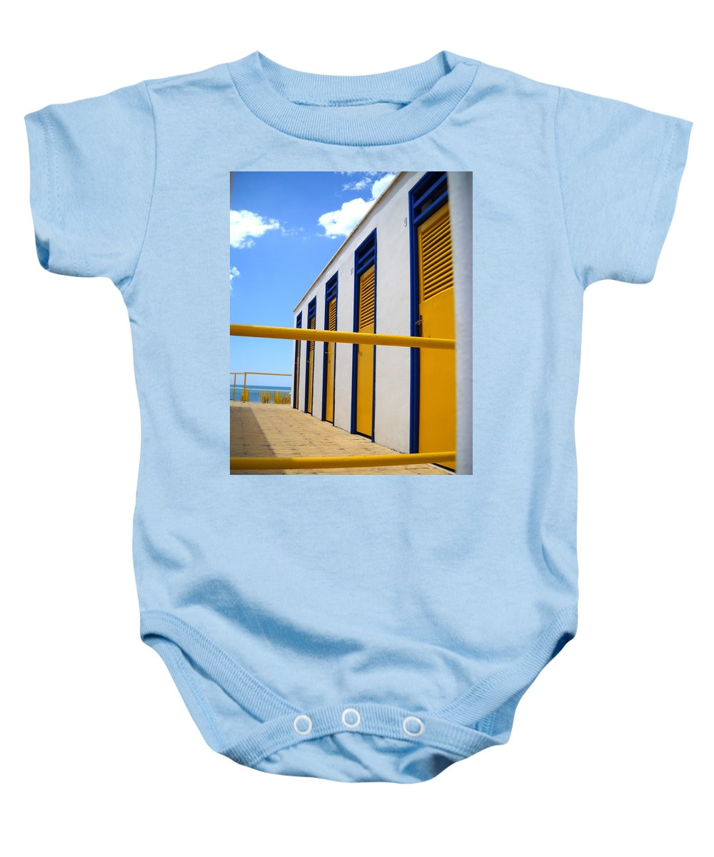 Yellow Baby Onesie featuring the photograph At The Seashore 3 by Tom Reynen