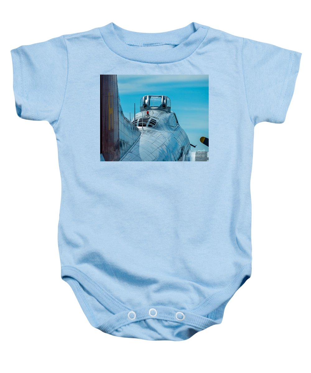 B 17 Baby Onesie featuring the photograph B 17 Spine by Stephen Whalen