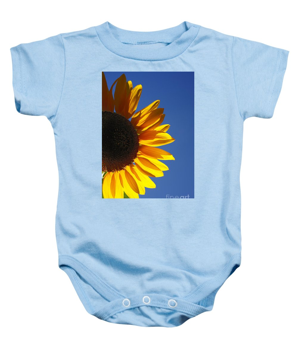 Back Light Baby Onesie featuring the photograph Backlit Sunflower by Gaspar Avila