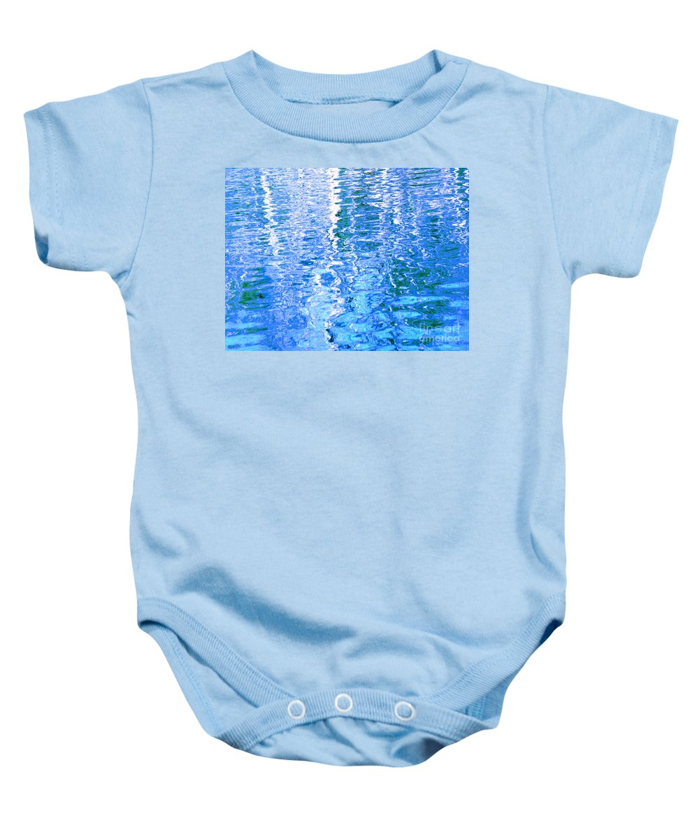 Water Baby Onesie featuring the photograph Baffling Blue Water by Sybil Staples