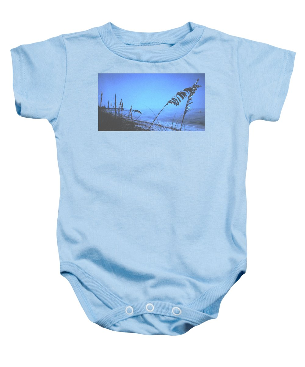 Baby Onesie featuring the photograph Bahama Blue by Ian MacDonald