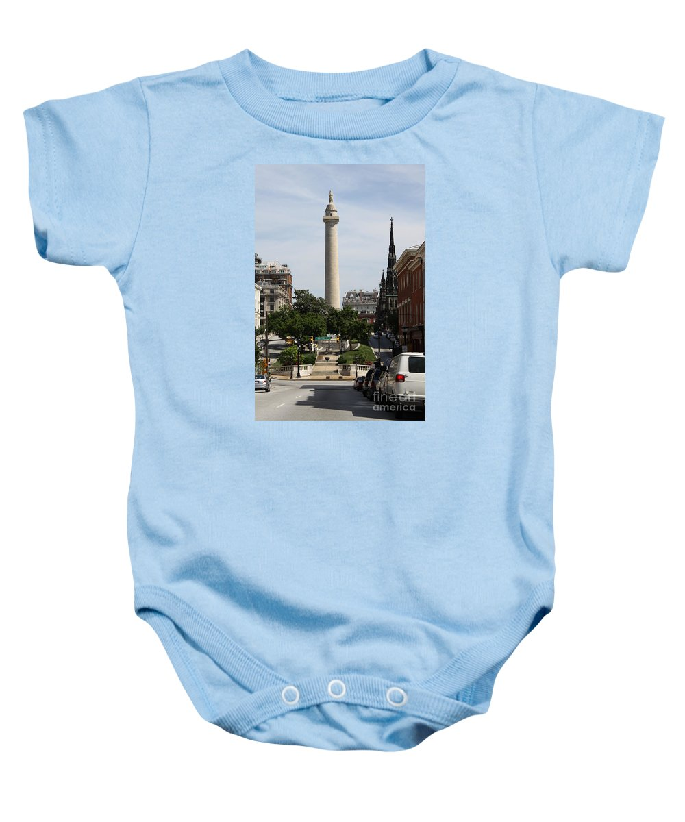 Street Baby Onesie featuring the photograph Baltimore Streetscene by Christiane Schulze Art And Photography