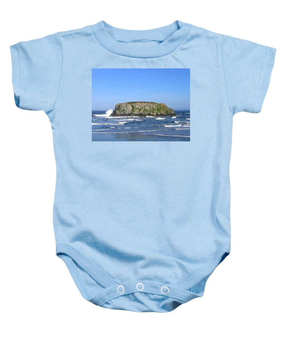 Table Rock Baby Onesie featuring the photograph Bandon 12 by Will Borden
