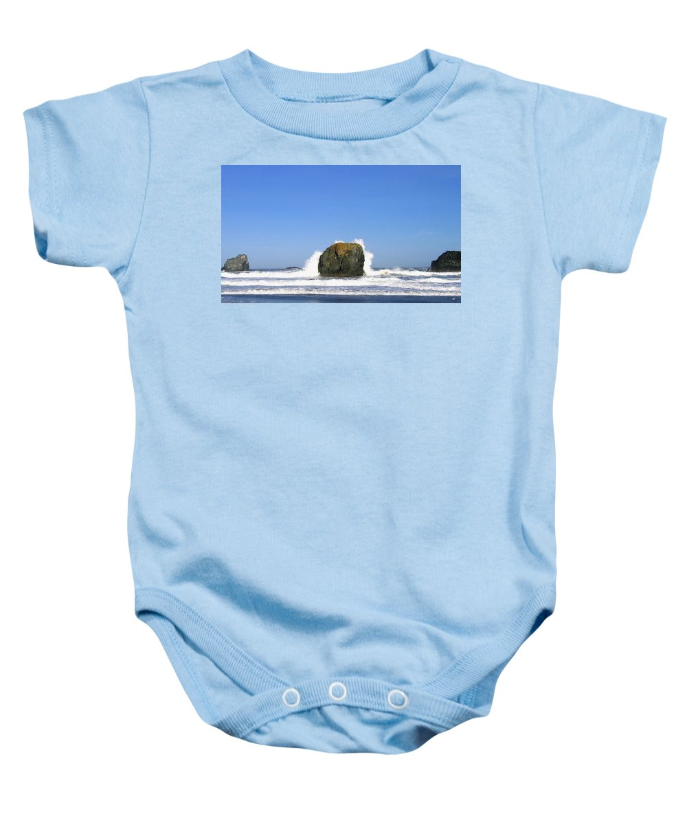 Bandon Baby Onesie featuring the photograph Bandon 14 by Will Borden