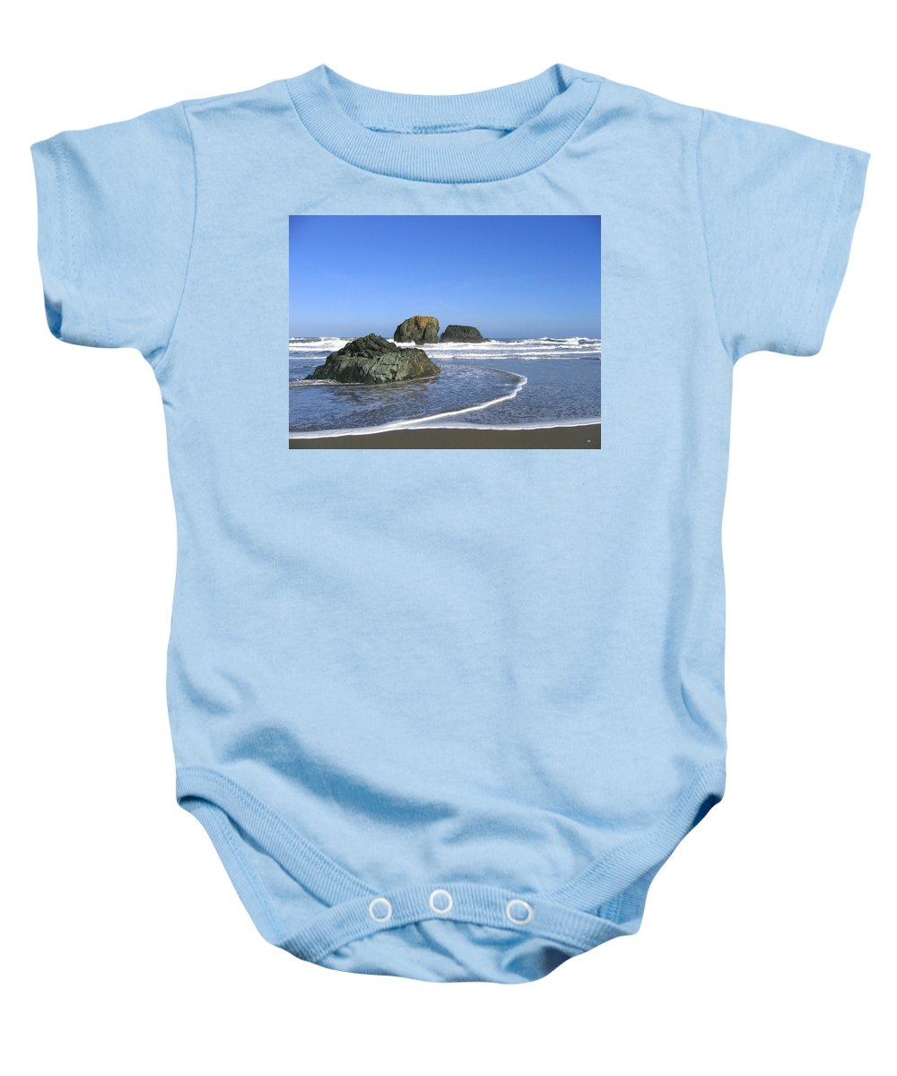 Bandon 5 Baby Onesie featuring the photograph Bandon 5 by Will Borden