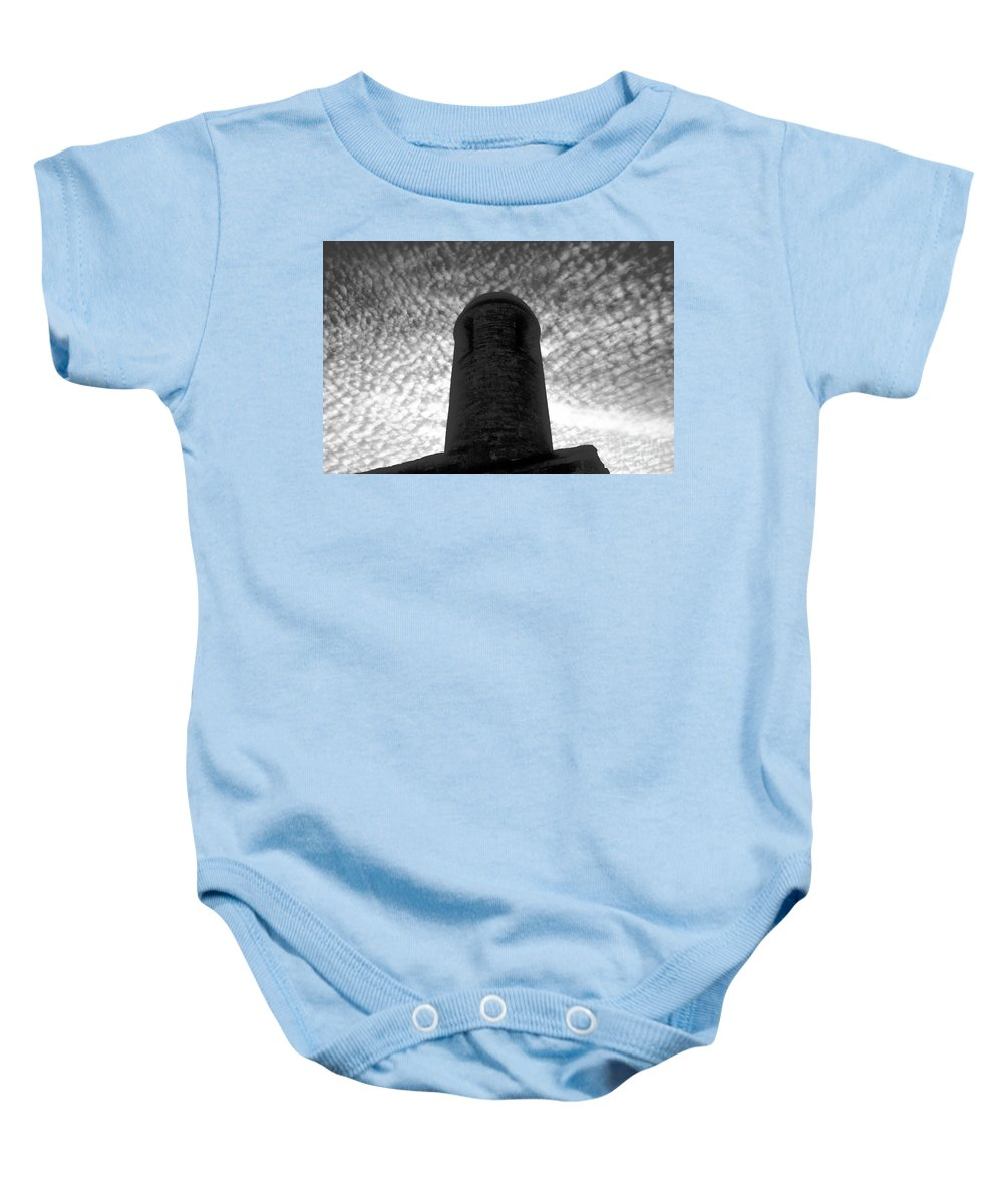 St. Augustine Baby Onesie featuring the photograph Bastion Of St. Augustine by David Lee Thompson
