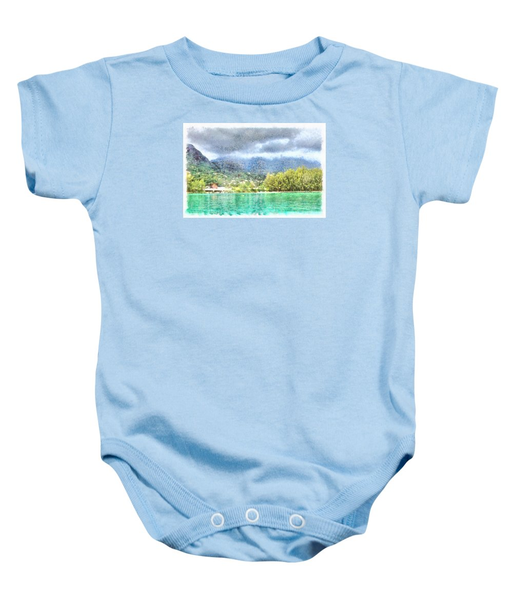 Ocean Baby Onesie featuring the photograph Bay And Greenery by Ashish Agarwal