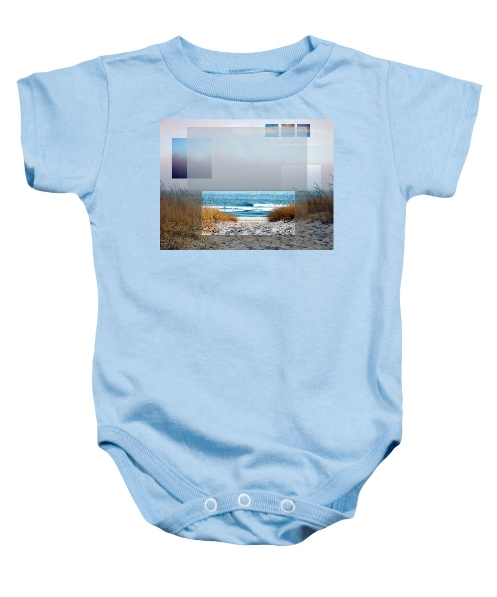 Beach Baby Onesie featuring the photograph Beach Collage by Steve Karol