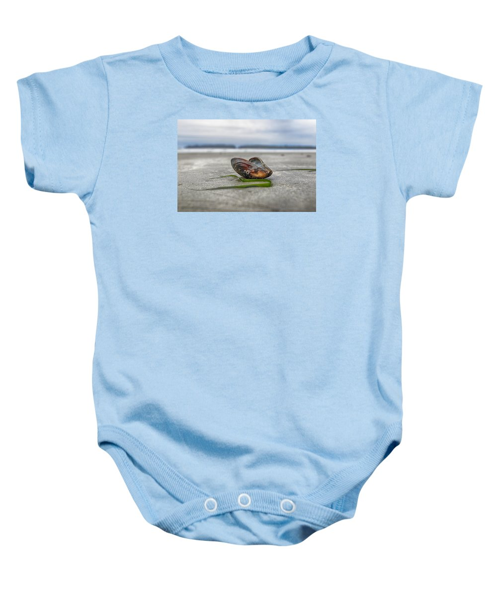 Tree Baby Onesie featuring the photograph Beach by Naman Imagery