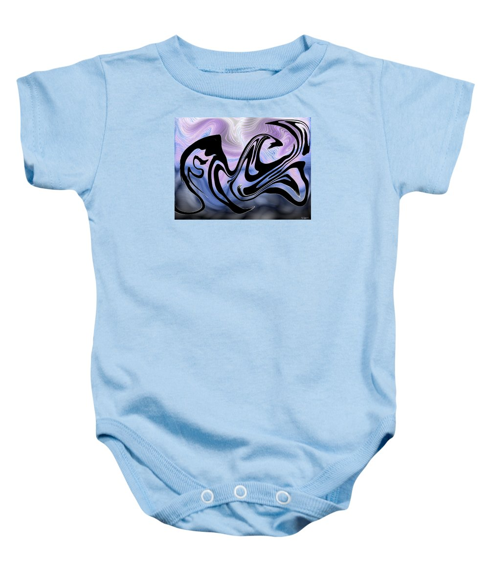 Beauty Baby Onesie featuring the painting Beauty Is Wild In Spirit by Abstract Angel Artist Stephen K