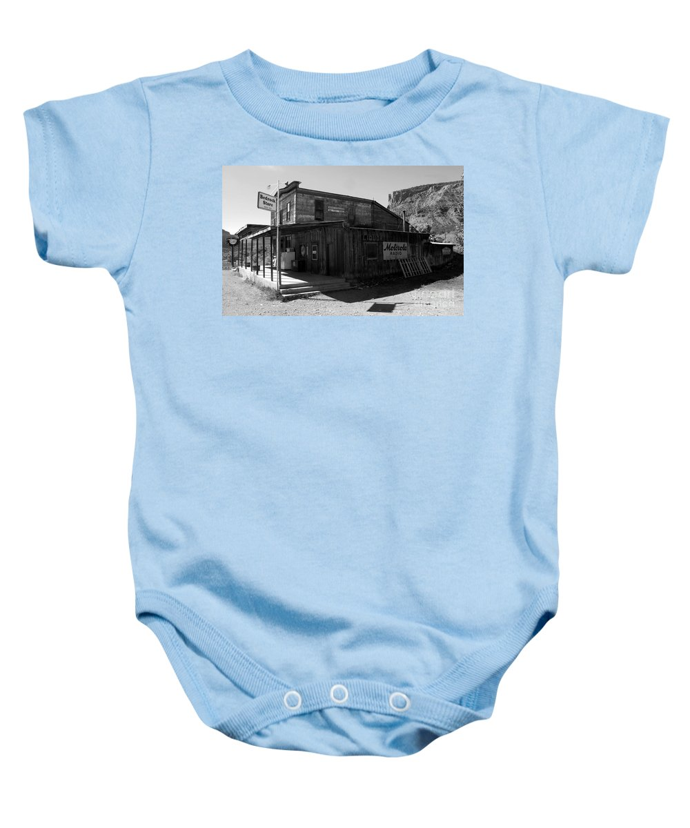 Bedrock Colorado Baby Onesie featuring the photograph Bedrock Store 1881 by David Lee Thompson