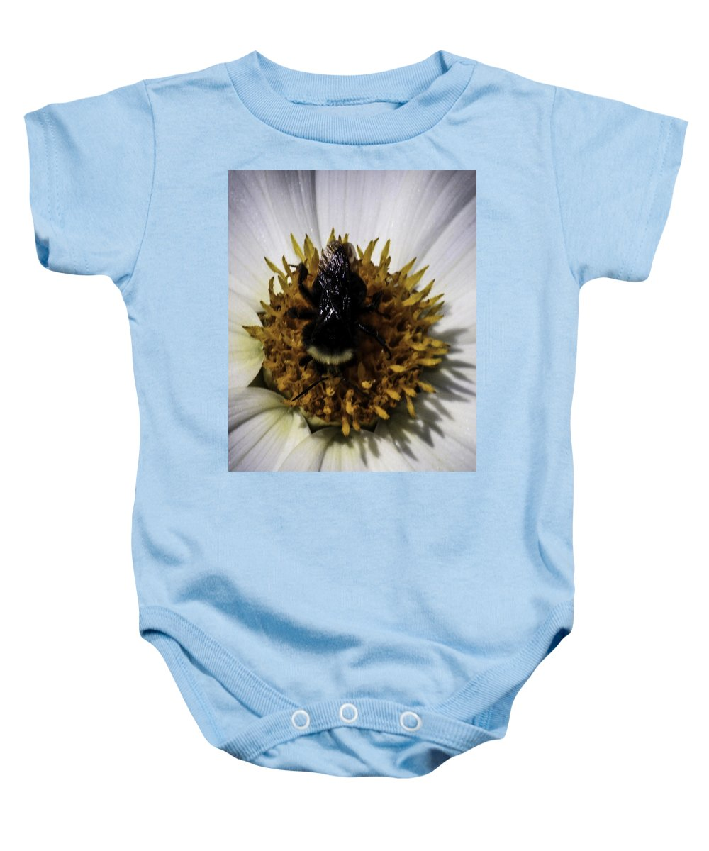 Afternoon Rain Baby Onesie featuring the photograph No Paid Holiday by Paul Shefferly