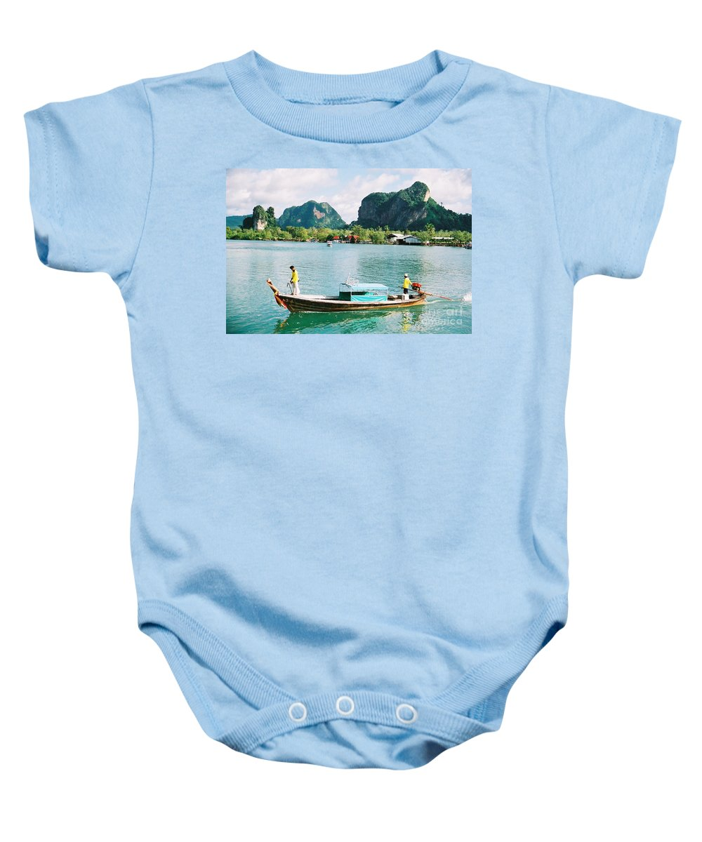 Boats Baby Onesie featuring the photograph Before The Tsunami by Mary Rogers