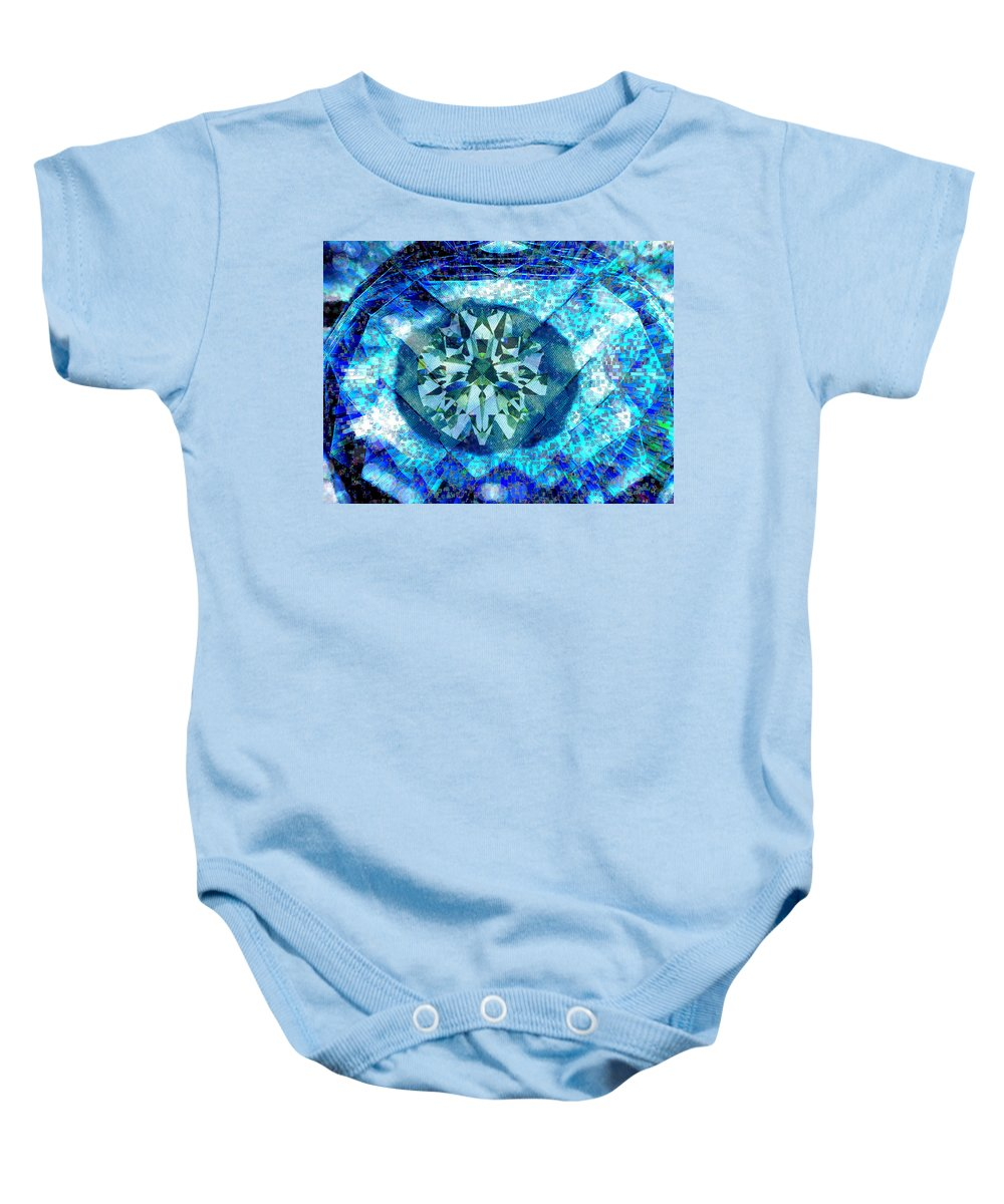 Abstract Baby Onesie featuring the digital art Behold The Jeweled Eye by Seth Weaver