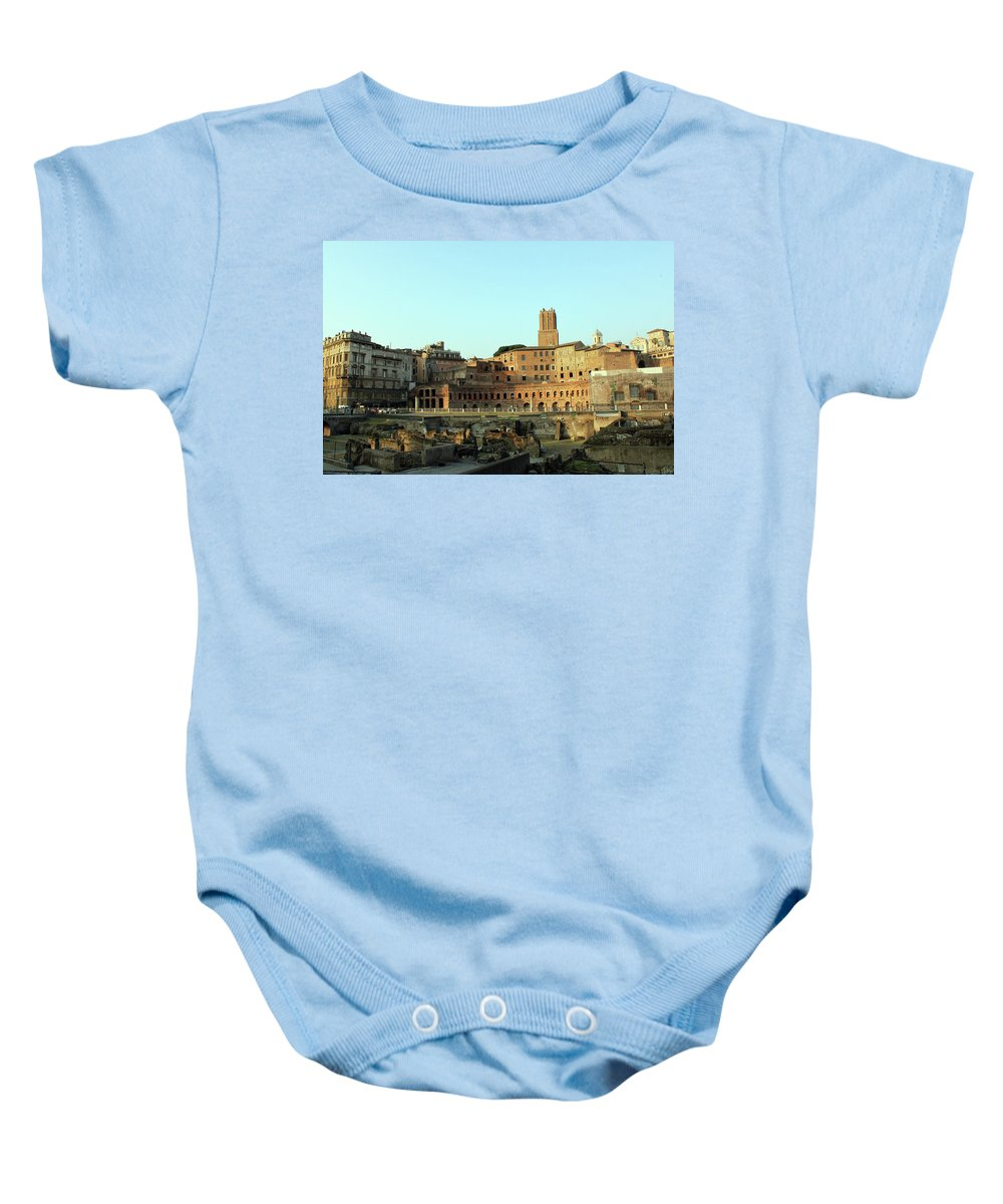 Rome Baby Onesie featuring the photograph Beside The Road by Munir Alawi