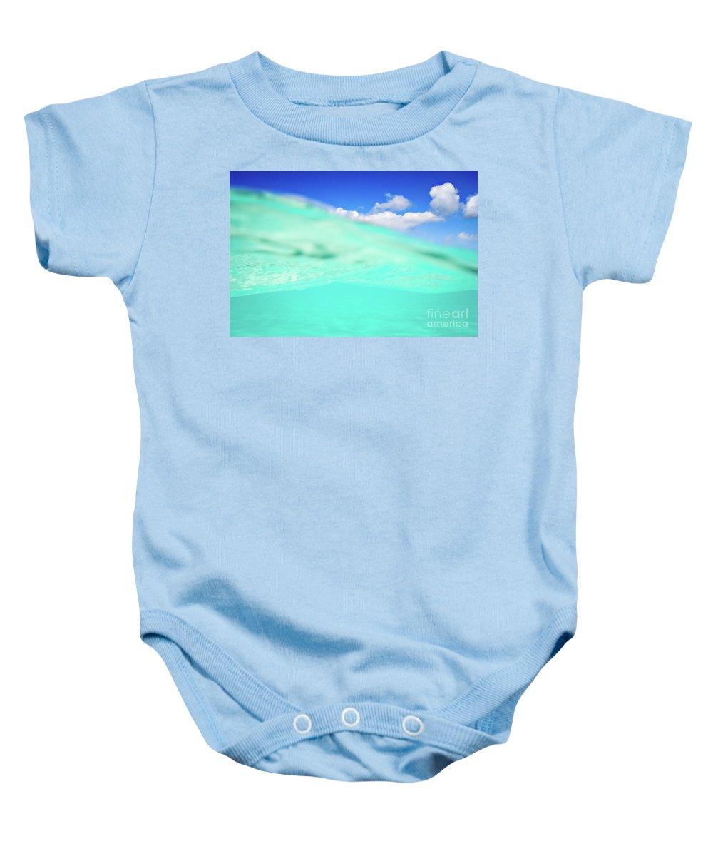 Underwater Baby Onesie featuring the photograph Best Of Both Worlds by Doug Sturgess