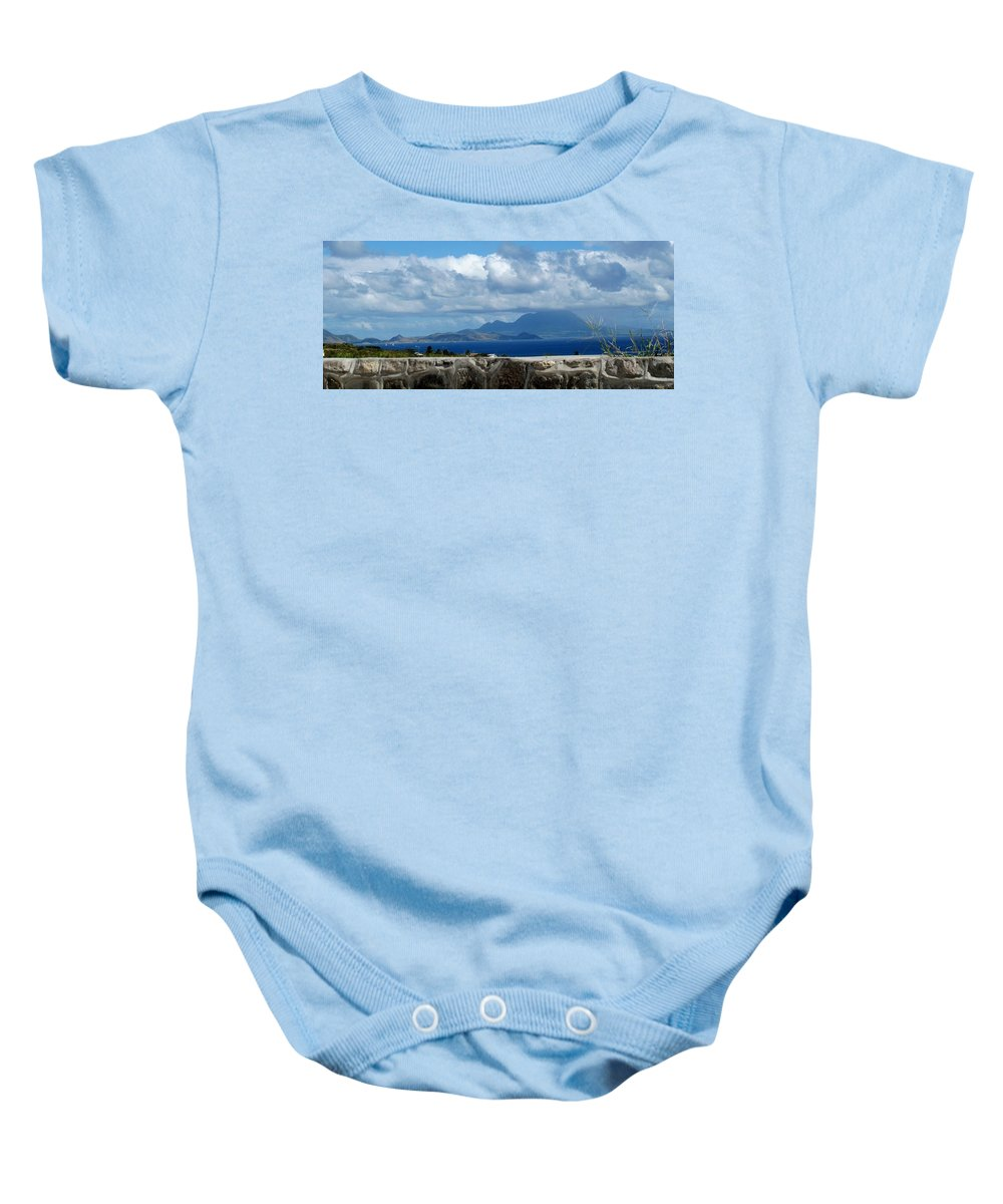 St Kitts Baby Onesie featuring the photograph Beyond The Wall by Ian MacDonald