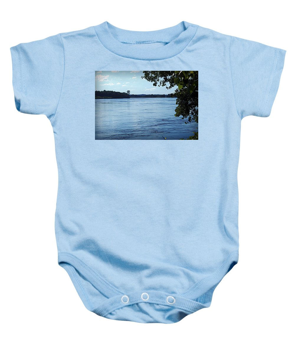 River Baby Onesie featuring the photograph Big River by Cricket Hackmann