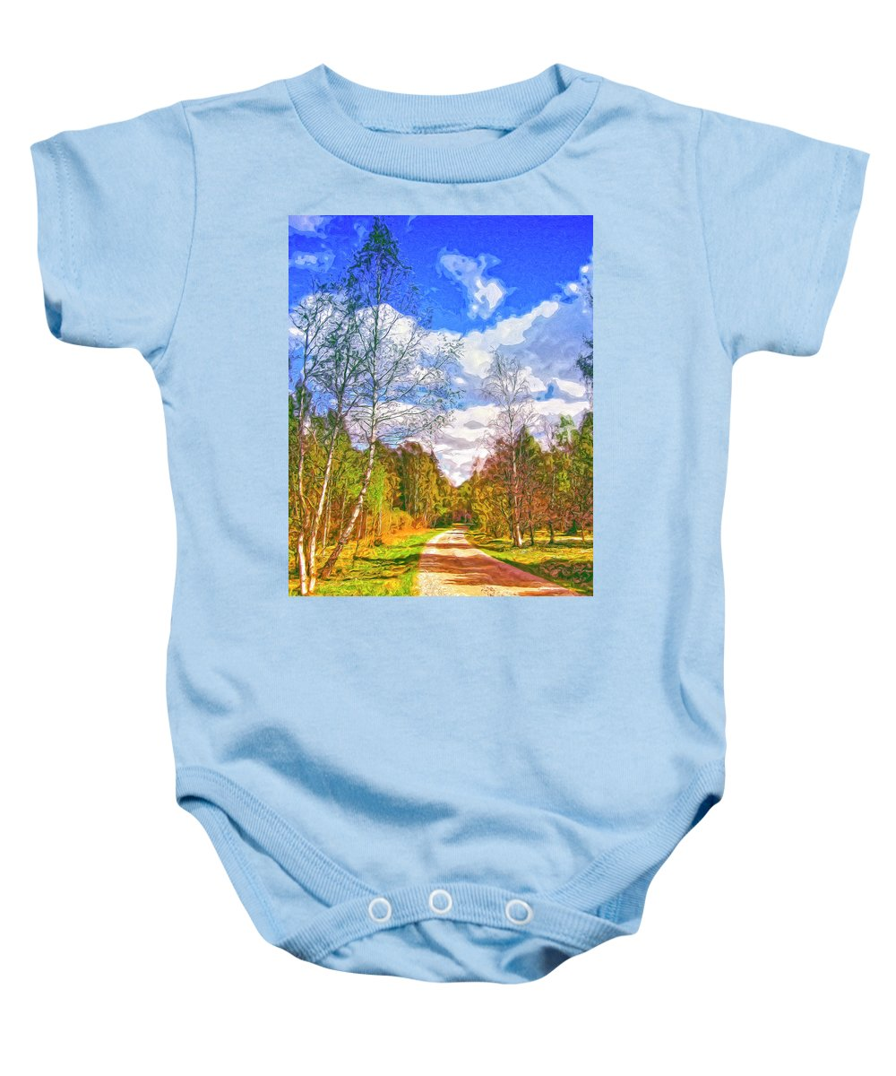 Big Sky Baby Onesie featuring the painting Big Sky by Dominic Piperata